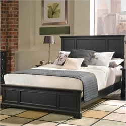 Home Styles Bedford Queen Wood Panel Bed 3 Piece Bedroom Set in Ebony