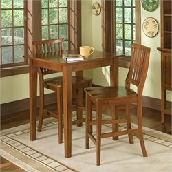Home Styles Arts & Crafts 3 Piece Bistro Set in Cottage Oak