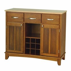 Cottage Oak Buffet Kitchen Island