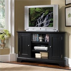Home Styles Bedford Entertainment Corner TV Stand in Ebony
