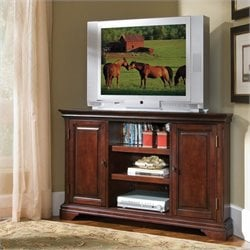 Home Styles Lafayette Corner Entertainment TV Stand in Cherry
