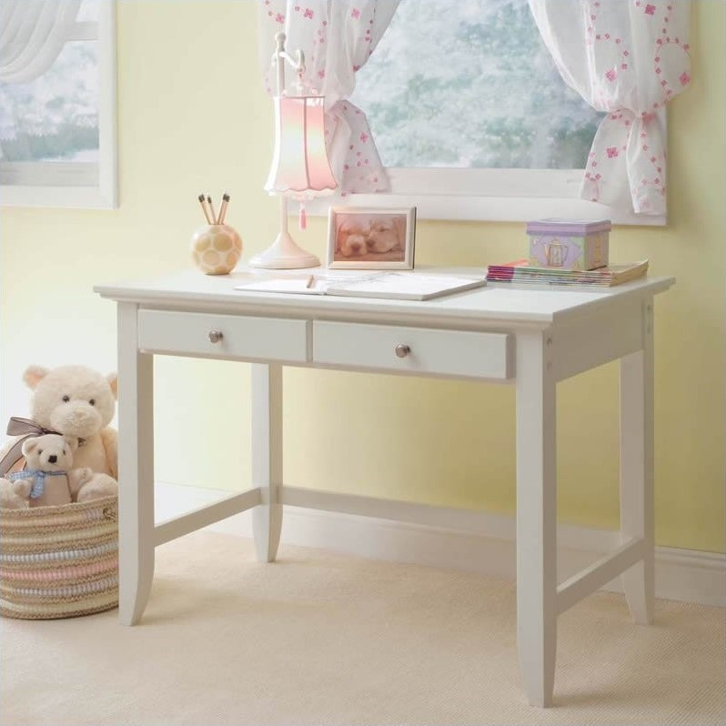 Home Styles Naples Student Desk in White Finish - 5530-16
