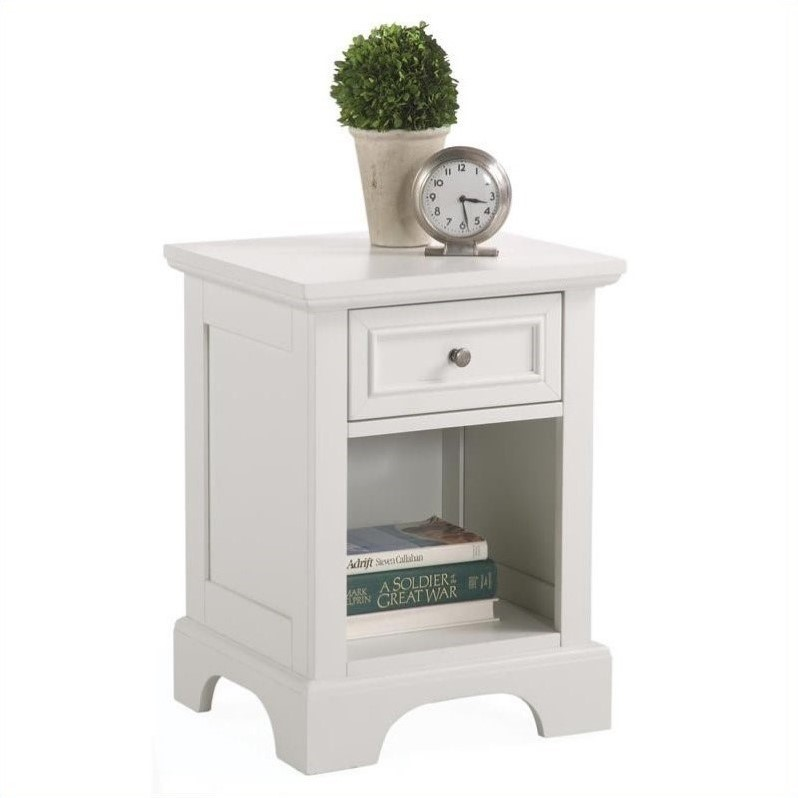 Naples 1 Drawer Nightstand in Off White