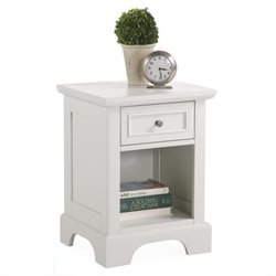 Home Styles Naples 1 Drawer Nightstand in Off White