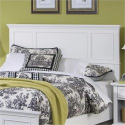 Home Styles Naples Queen Panel Headboard in Off White Finish