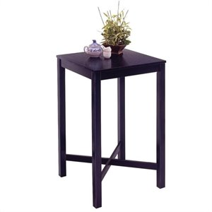 Home Styles Black Solid Wood Pub Table
