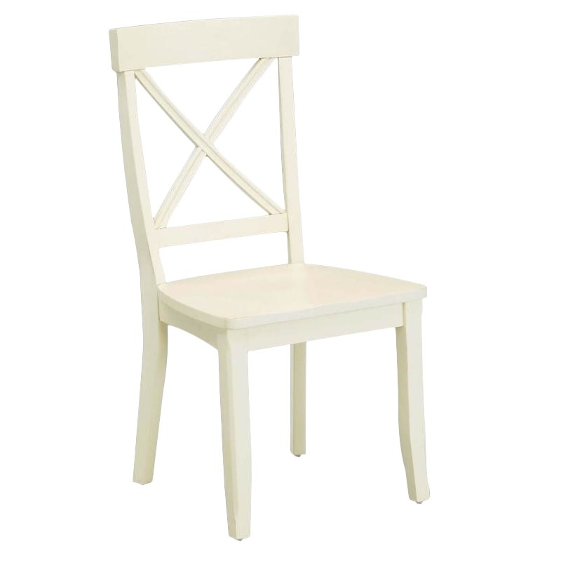 Home Styles Dining Chair in Antique White (Set of 2)
