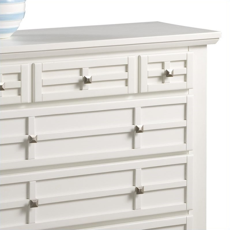 Home Styles Arts & Crafts Chest in White Finish
