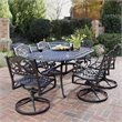 Home Styles Biscayne 7 Piece Dining Set in Black Finish