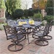 Home Styles Biscayne 7 Piece Dining Set in Bronze Rust