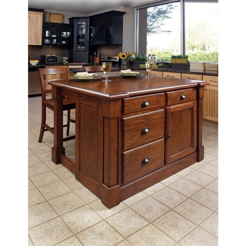Kitchen island two stools 5520 949 - Kitchen island with stools ...
