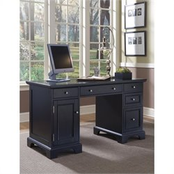 Home Styles Bedford Pedestal Computer Desk in Ebony
