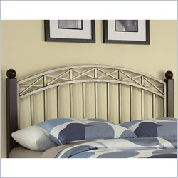 Home Styles Bordeaux Headboard in Espresso and Antique Pewter - Queen size