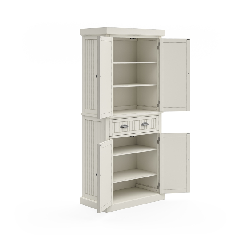 Home Styles Nantucket Pantry in Distressed White Finish