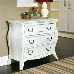 Home Styles The Regency Three Drawer Bombe Chest in White