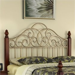 Home Styles St. Ives Spindle Headboard Cherry and Gold - Queen size