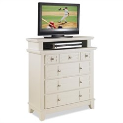 Home Styles Arts & Crafts TV Media Chest in White Finish