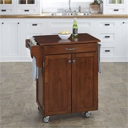 Home Styles Cuisine Cart in Cherry Finish with Cherry Top