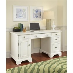 Home Styles Naples Pedestal Desk White Finish