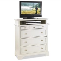 Home Styles Naples TV Media Chest White Finish