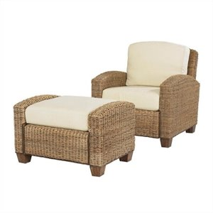 Honey Chair and Ottoman