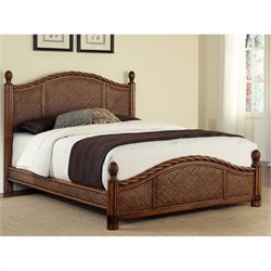 Panel Bed in Cinnamon