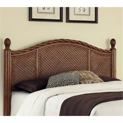 Home Styles Marco Island Panel Headboard in Cinnamon - King