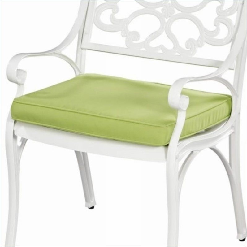 Home Styles Green Apple Fabric Outdoor Seat Cushion