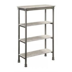 Four Tier Shelf in Gray and Marble