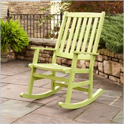 Home Styles Bali Hai Outdoor Rocking Chair in Limeade Finish