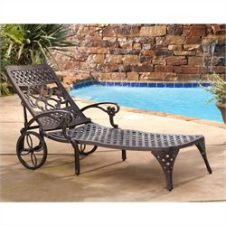 Outdoor Chaise Lounge Chair in Bronze