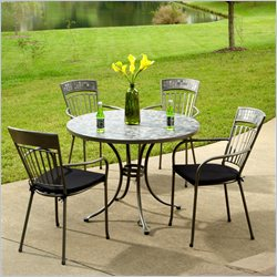 Home Styles Glen Rock 5 Piece Outdoor Dining Set in Gray