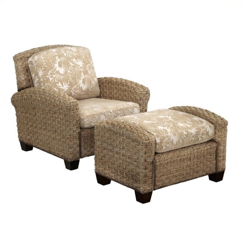 Chair and Ottoman in Honey