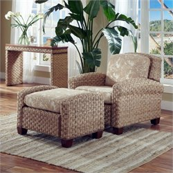 Home Styles Cabana Banana II Chair and Ottoman in Honey Finish