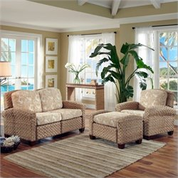 3 Piece Sofa Set Honey Finish