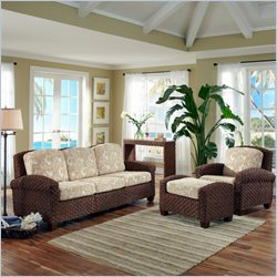 Home Styles Cabana Banana II 3 Piece Sofa Set Cinnamon Finish