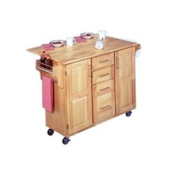Kitchen Cart with Breakfast Bar in Natural