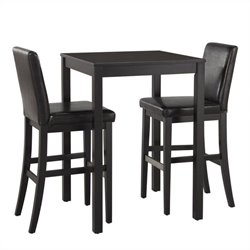 Home Styles Nantucket 3 Piece Bistro Set in Black