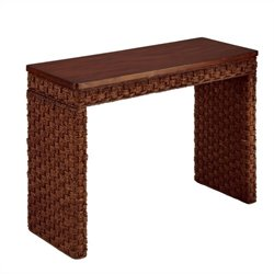 Console Table in Cinnamon Finish