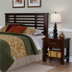 Home Styles Cabin Creek Headboard and Night Stand in Chestnut Finish