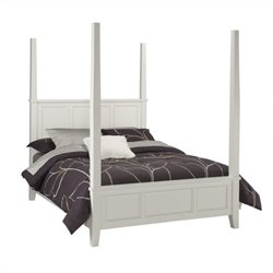 Home Styles Naples Poster Bed in White - Queen