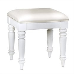 Home Styles Bermuda Vanity Bench in White Finish