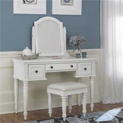 Home Styles Bermuda Vanity and Bench in White Finish