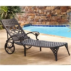 Black Chaise Lounge Chair