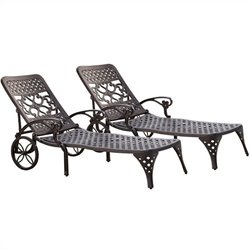 Black Chaise Lounge Chairs Set of 2