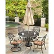 Floral Blossom 5 Piece Dining Set in Charcoal