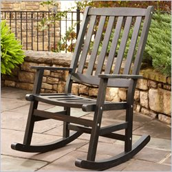 Home Styles Bali Hai Outdoor Rocking Chair in Black Finish