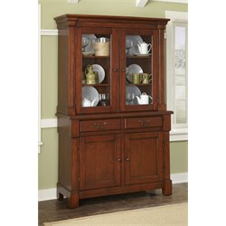 Home Styles Aspen Buffet and Hutch in Rustic Cherry