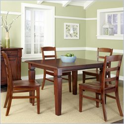 Home Styles Aspen 5 Piece Dining Set in Rustic Cherry