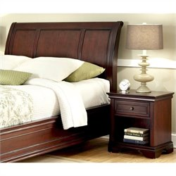 Sleigh Headboard and Night Stand in Espresso